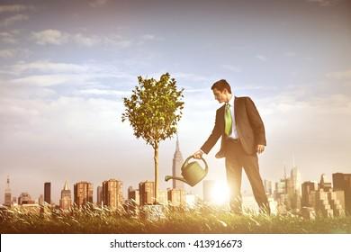 Businessman Entrepreneur Profit Beginning Concept