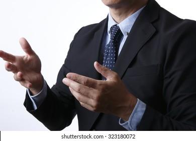 Businessman explaining