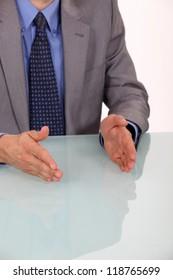 Businessman explaining his company's strategy