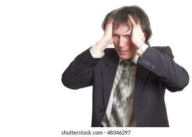 businessman in failure theme
