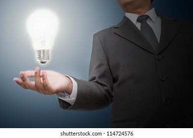 Businessman get  ideas
