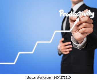 Businessman and  growing line ,symbolize growing Skills