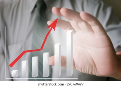 businessman hand and chart,business, technology, internet and networking concept - businessman pressing button with contact on virtual screens ,hardworking