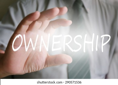businessman hand, ownership concept