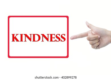 Businessman hand pointing kindness