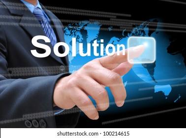 Händedruck-Lösungstaste auf der Touchscreen-Schnittstelle