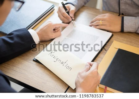 Businessman Hand Sending Resignation Letter Executive Stock Photo