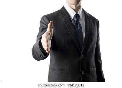 Businessman With Hand Shake Pose