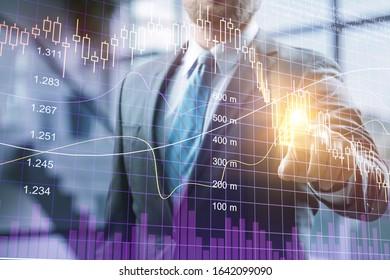 Businessman hand touching virtual screen - Shutterstock ID 1642099090