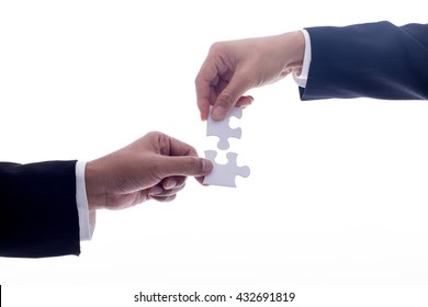 Businessman handshake for agreement with partnership to agree their business.