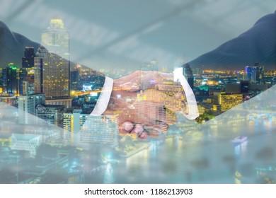 Businessman handshake for do together business