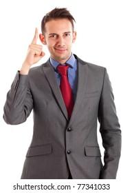 Businessman having a genial idea
