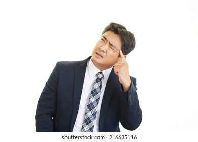 Businessman having a headache