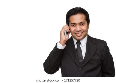 Businessman having a phonecall