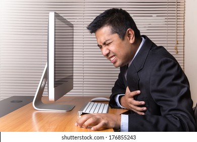 Businessman Heart Attack in office