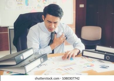 Businessman is heart disease.