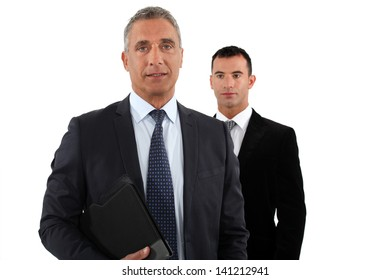 Businessman with his assistant