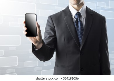 Businessman Holding Smart Phone