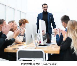 businessman holds a working meeting with the business team.