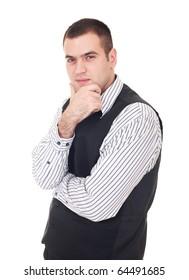 Businessman isolate on white backgorund