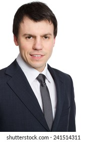 businessman isolated head shot
