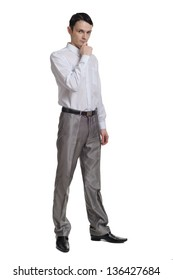 Businessman isolated in white background