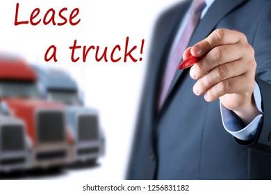 Businessman leasing a new truck to driver / company
