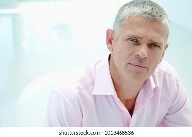 Businessman in light office
