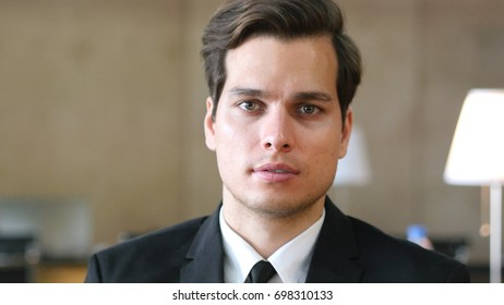 Businessman Looking at Camera, Portrait in Office