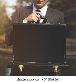 Businessman Loss Recession Bankruptcy Risk Financial Crisis Concept