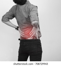 Businessman with low back pain,Health concept