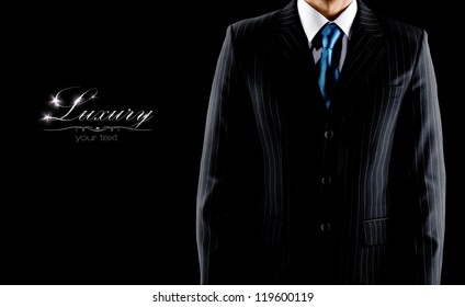 businessman in a luxury suit