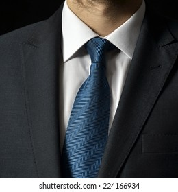 businessman in a luxury suit - close up