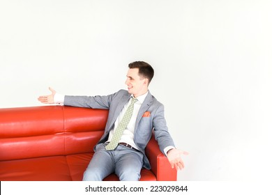 Super Businessman Lying Asleep On Couch On Stock Photo Edit Now Unemploymentrelief Wooden Chair Designs For Living Room Unemploymentrelieforg