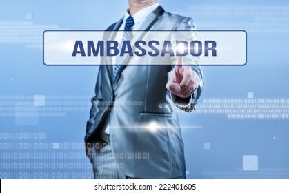 businessman making decision on ambassador