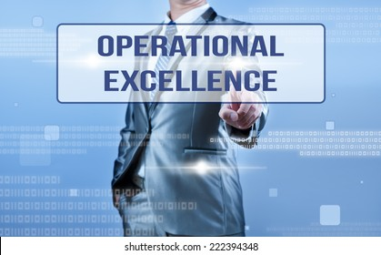 Operational excellence images stock photos vectors shutterstock businessman making decision on oeprational excellence thecheapjerseys Images