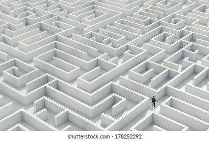 Businessman in a maze