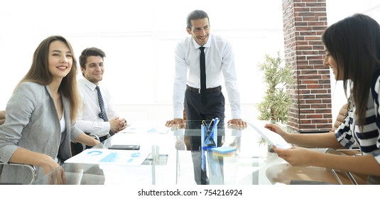 businessman at meeting with business team in officce