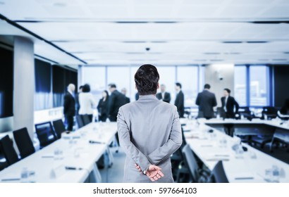 Businessman in the meeting room.