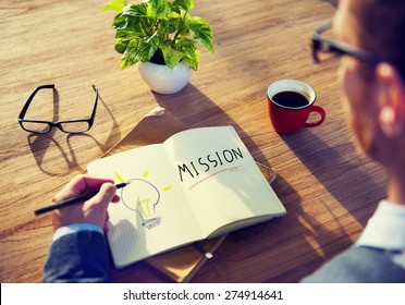 Businessman Mission Marketing Goal Project Planning Concept
