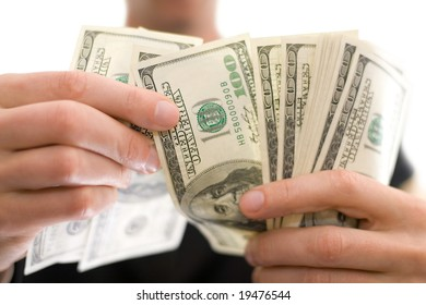 businessman with money in hands