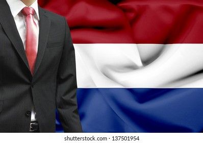Businessman from Netherlands conceptual image