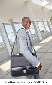 Businessman on business travel journey