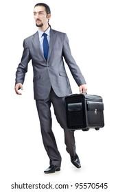 Businessman on his travel days
