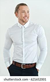 businessman on a light background