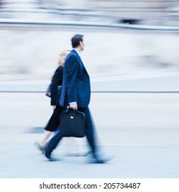businessman on the move