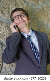 businessman on the phone, outdoor picture