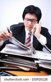 Businessman on thinking concept idea