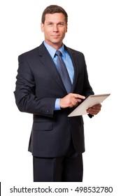 Businessman on white background