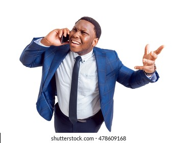 Businessman on white background. With clipping path.